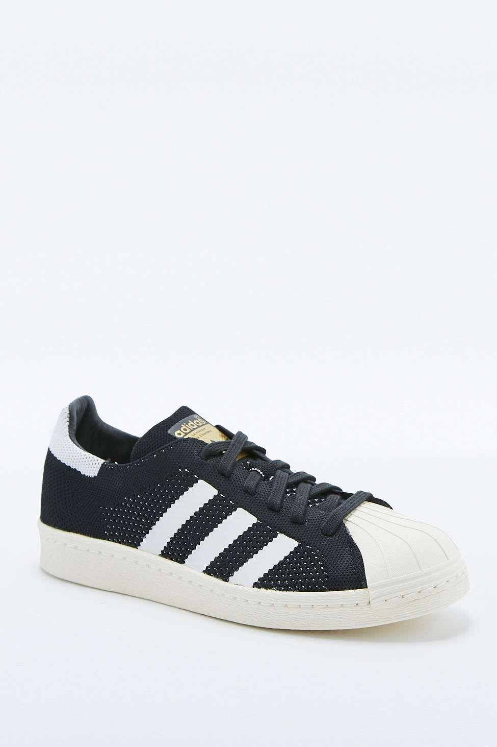 """adidas Originals – Schwarze Sneaker """"Superstar"""" in gestrickter Optik"""