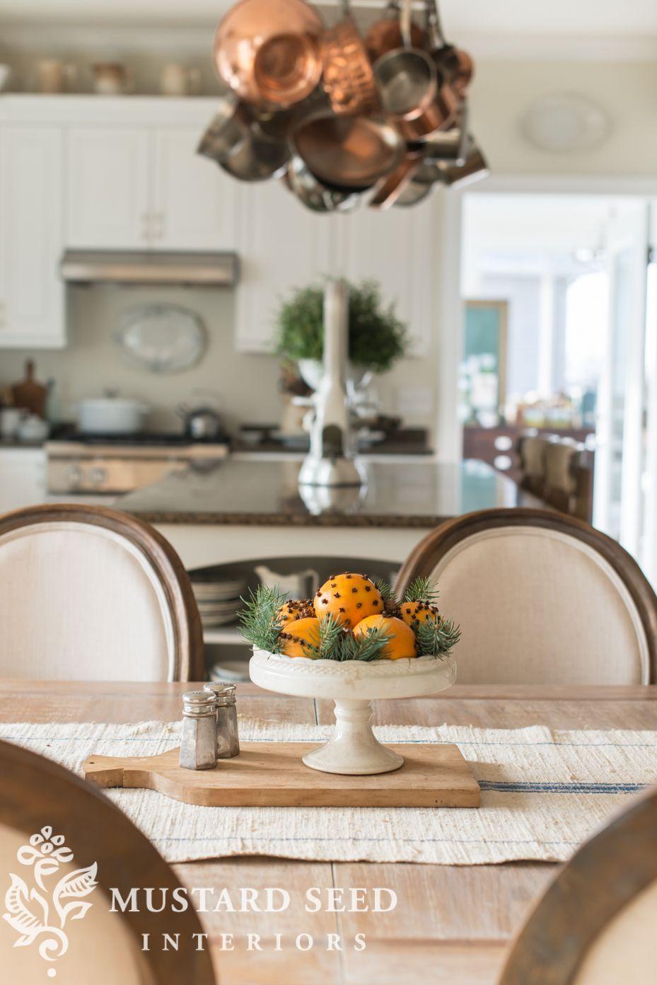 Orange Clove Pomanders & Free Mrsmeyers  Mustard Seed Captivating Miss Mustard Seed Dining Room Inspiration Design