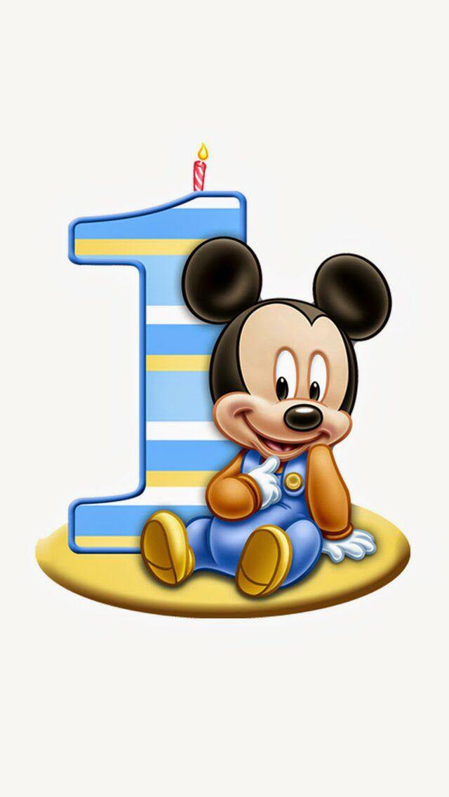 Baby Mickey Mouse Birthday Clip Art Clipart Panda Free