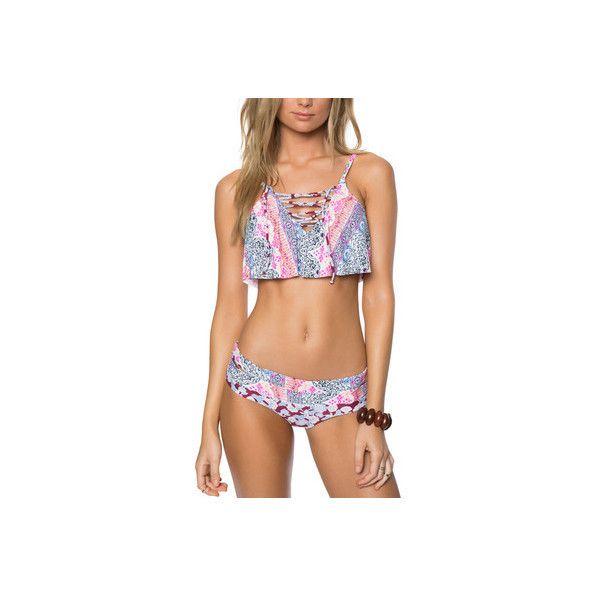 f921bd4ac42d Women's O'Neill Cruz Ruffle Bikini Top ($48) ❤ liked on Polyvore featuring