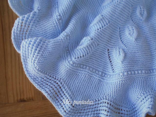 Mis puntadas mantas mantitas para beb pinterest - Mantas de punto hechas a mano ...