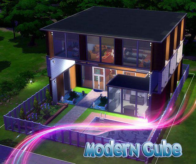 Modern Cube House By Sim4fun At TSR Via Sims 4 Updates
