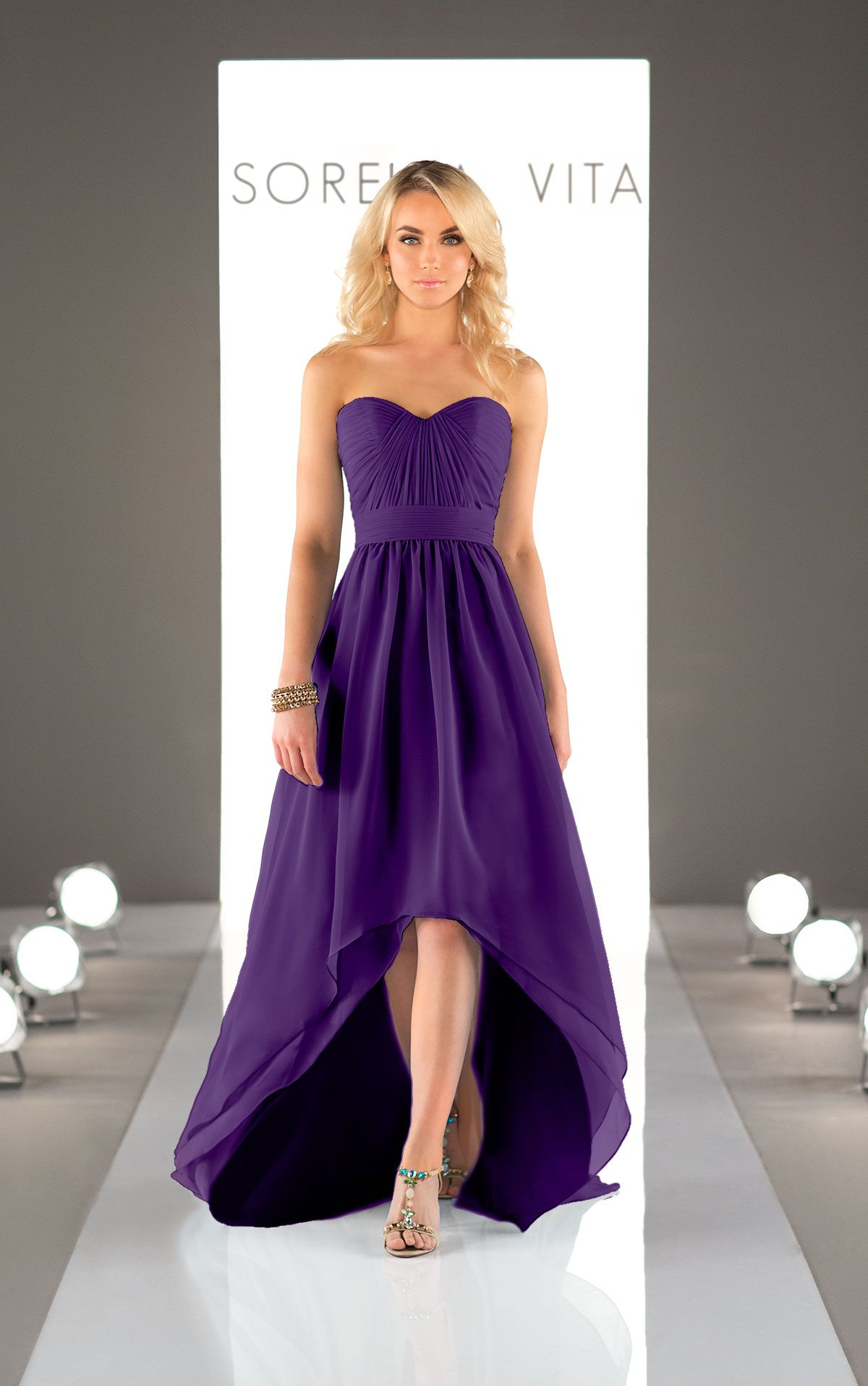 Chiffon High Low Bridesmaid Dress | Chiffon gown, High low ...