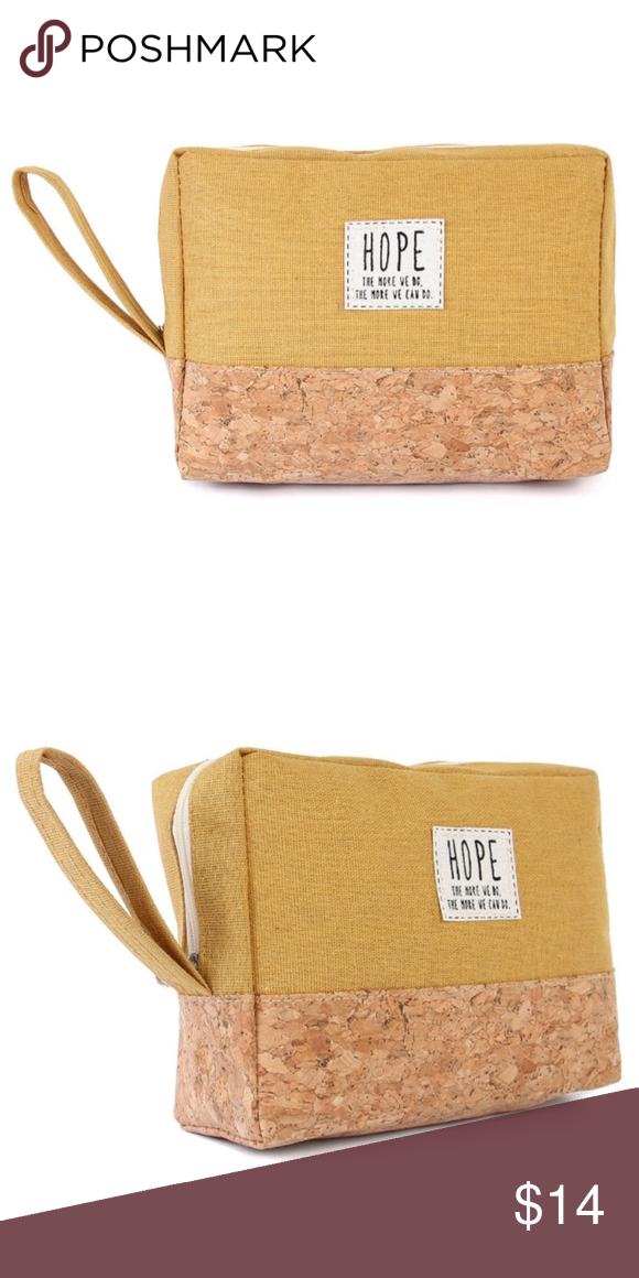 Hope Cosmetic Pouch Mustard Cork Accent Cosmetic pouch