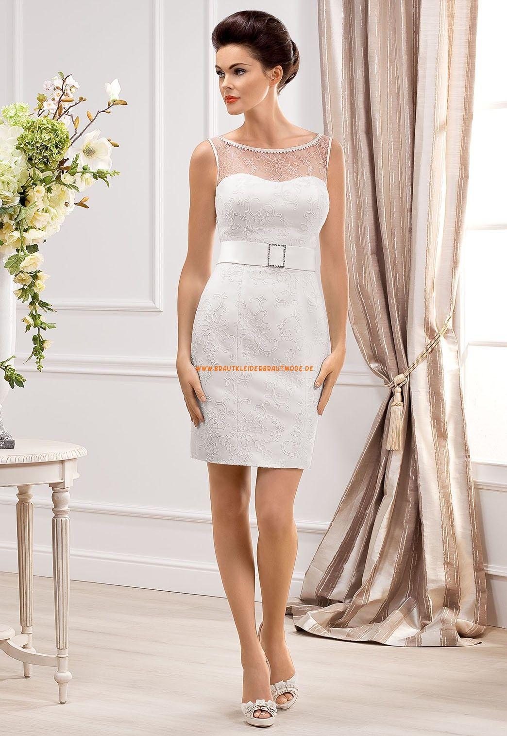 Schenkellange Schicke Hochzeitskleider aus Satin | Romantische ...