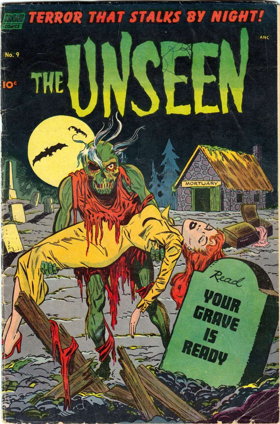 Comic Book Cover For The Unseen #9 - Version 1