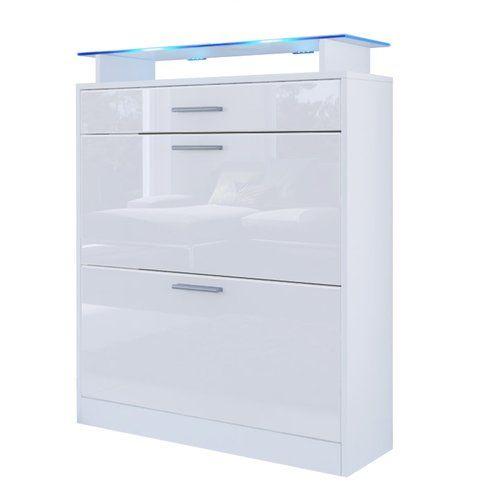 Loret 16 Pair Shoe Storage Cabinet Vladonmoebel Finish White