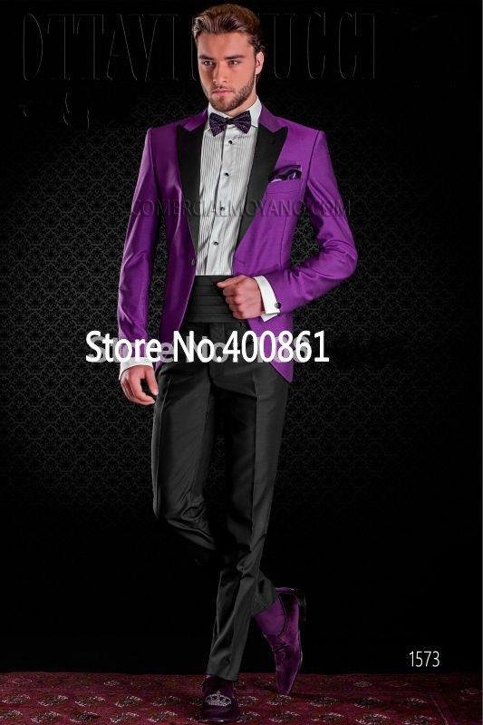Custom Made Mens Suits Groom Tuxedos Groomsmen Wedding Party ...