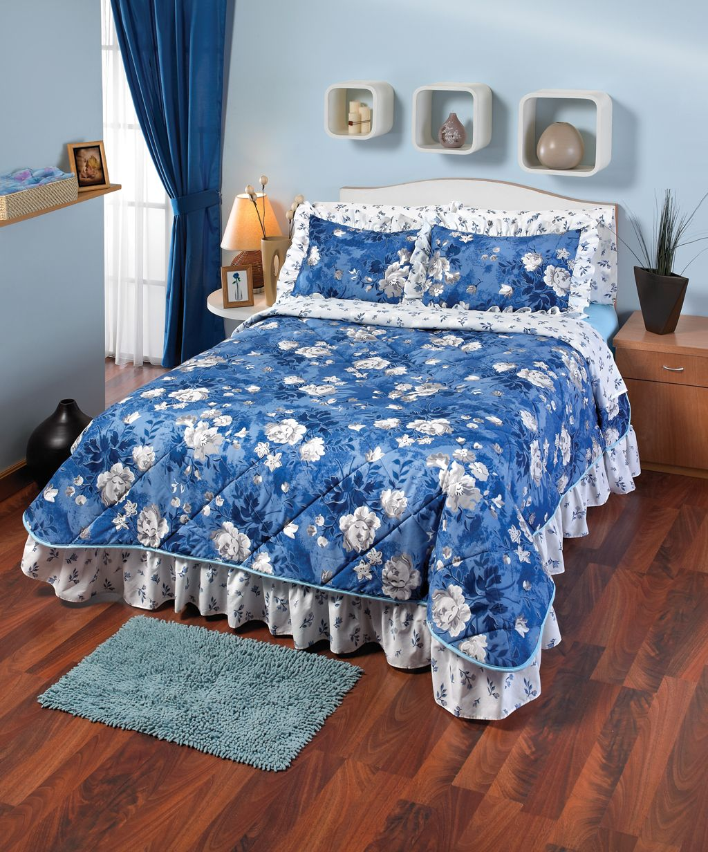 La colcha paraiso es una colcha de intima hogar con un - Colchas de lujo ...