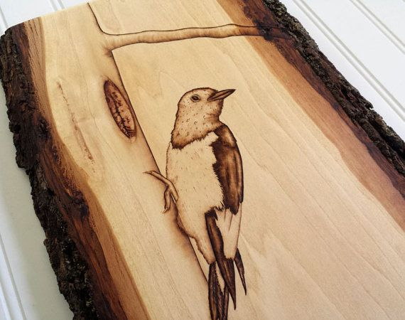 Bird decor rustic wood art woodpecker bird art wooden artwork