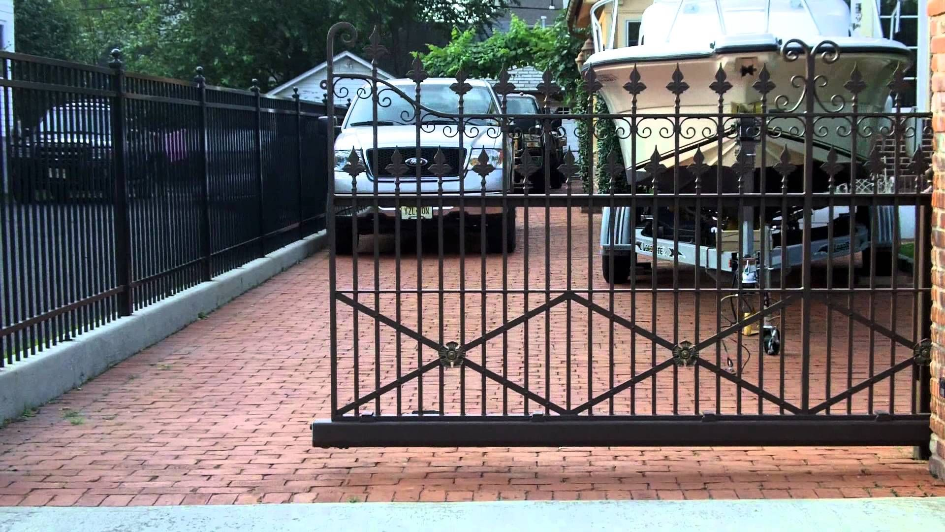 Wrought Iron Sliding Gate Using Our Cantilever Gate Hardware Sliding Gate Sliding Fence Gate Electric Sliding Gates