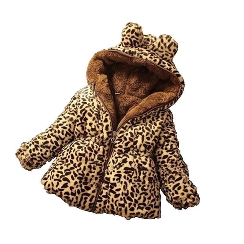Leopard Print Coat Childrens Hooded Jackets With Images Girls