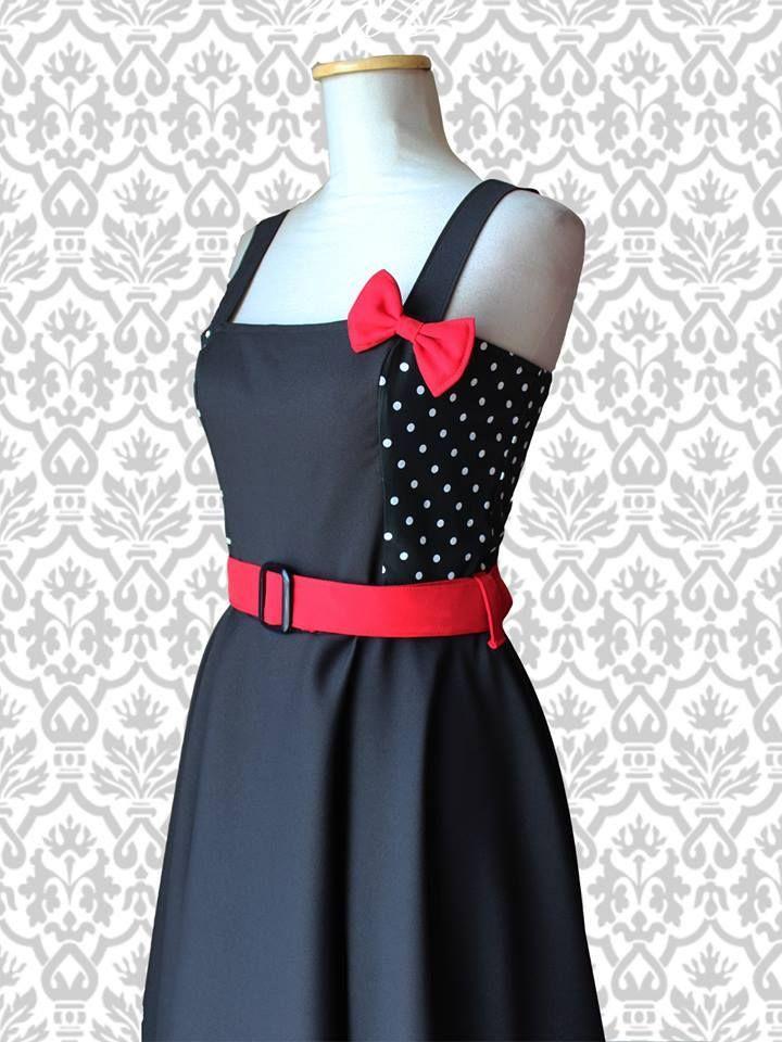 Vestido Margot Combinado #pinup #pinupdress #faldaplato #negro #black #vintage #retro #vestidopinup #lunares #polkadot #ropa #indumentaria #pinup  #vestido #vintage #retro