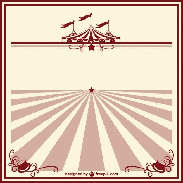 Circus vintage poster template free vector circus pinterest circus vintage poster template free vector maxwellsz