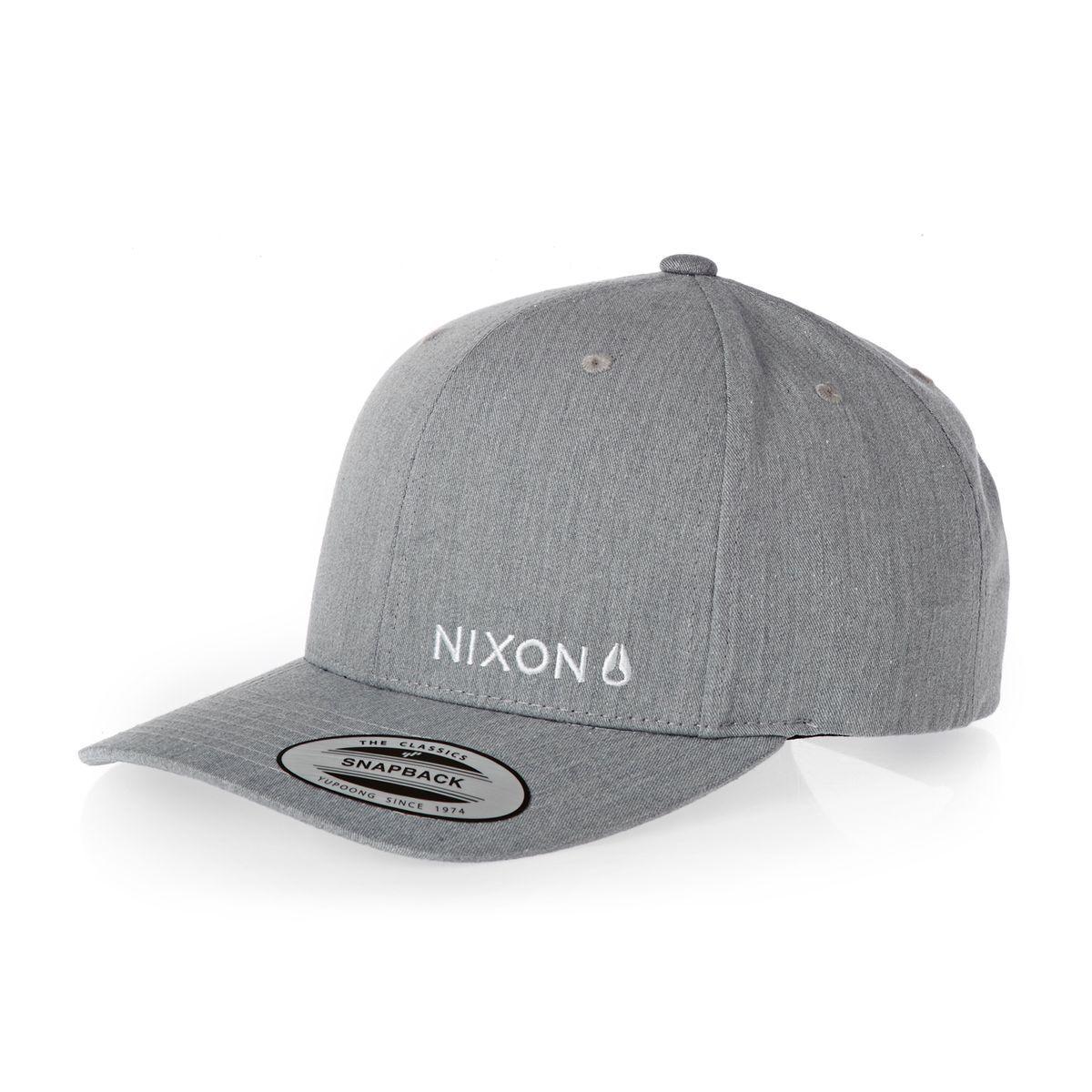 Nixon Caps - Nixon Lockup Snapback Cap - Heather Gray  168a26d3dda7