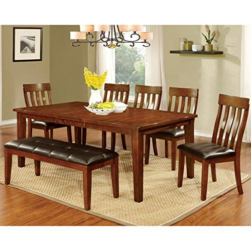 Furniture Of America Richmonte Country Style Cherry Dining Table Brilliant Cherry Dining Room Chairs Sale Inspiration