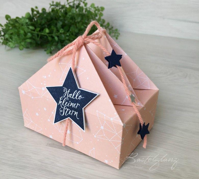Häufig verpackung mit dach dreieck | Treat boxes | Diy geschenke basteln CG89