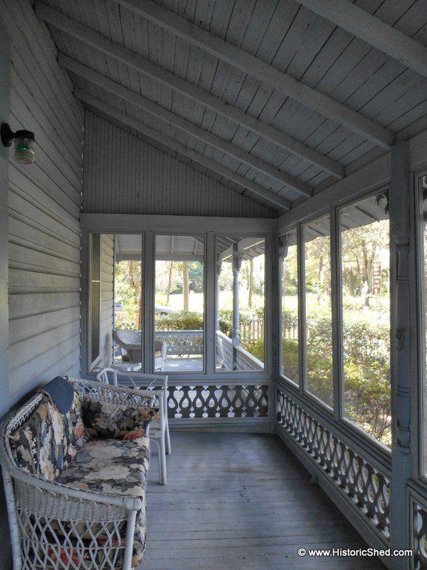Folk Victorian Porch Enclosure House With Porch