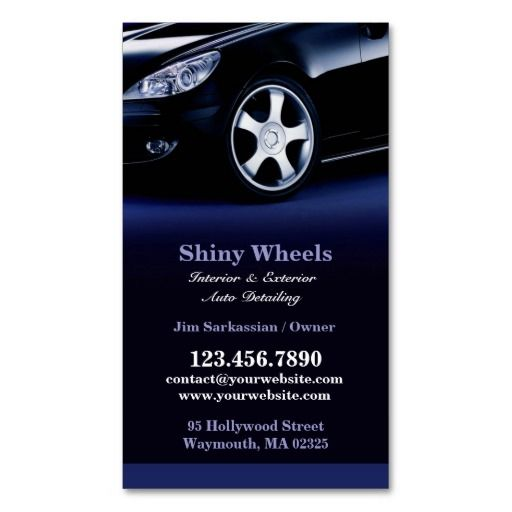 Auto Detailing Business Card Auto Sales Business Cards - auto detailing flyer template