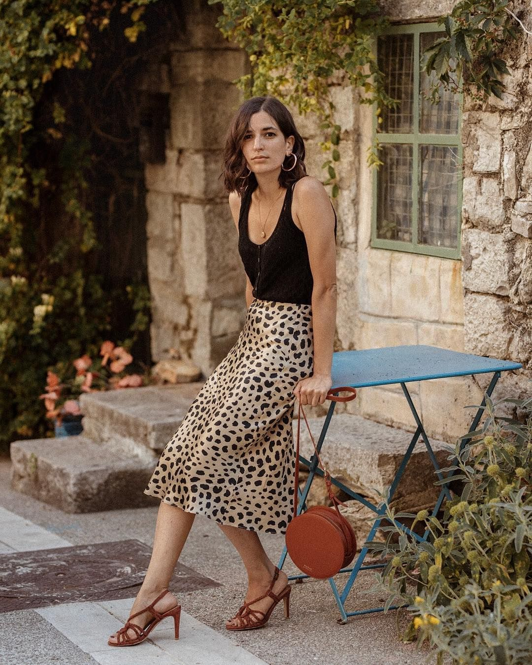 6d854f486487 Thanks to Realisation Par everybody is wearing a silk midi skirt. From  leopard print to bold colours