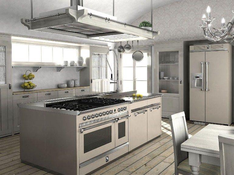 Cucina a libera installazione in acciaio inox ASCOT 120 - Steel ...