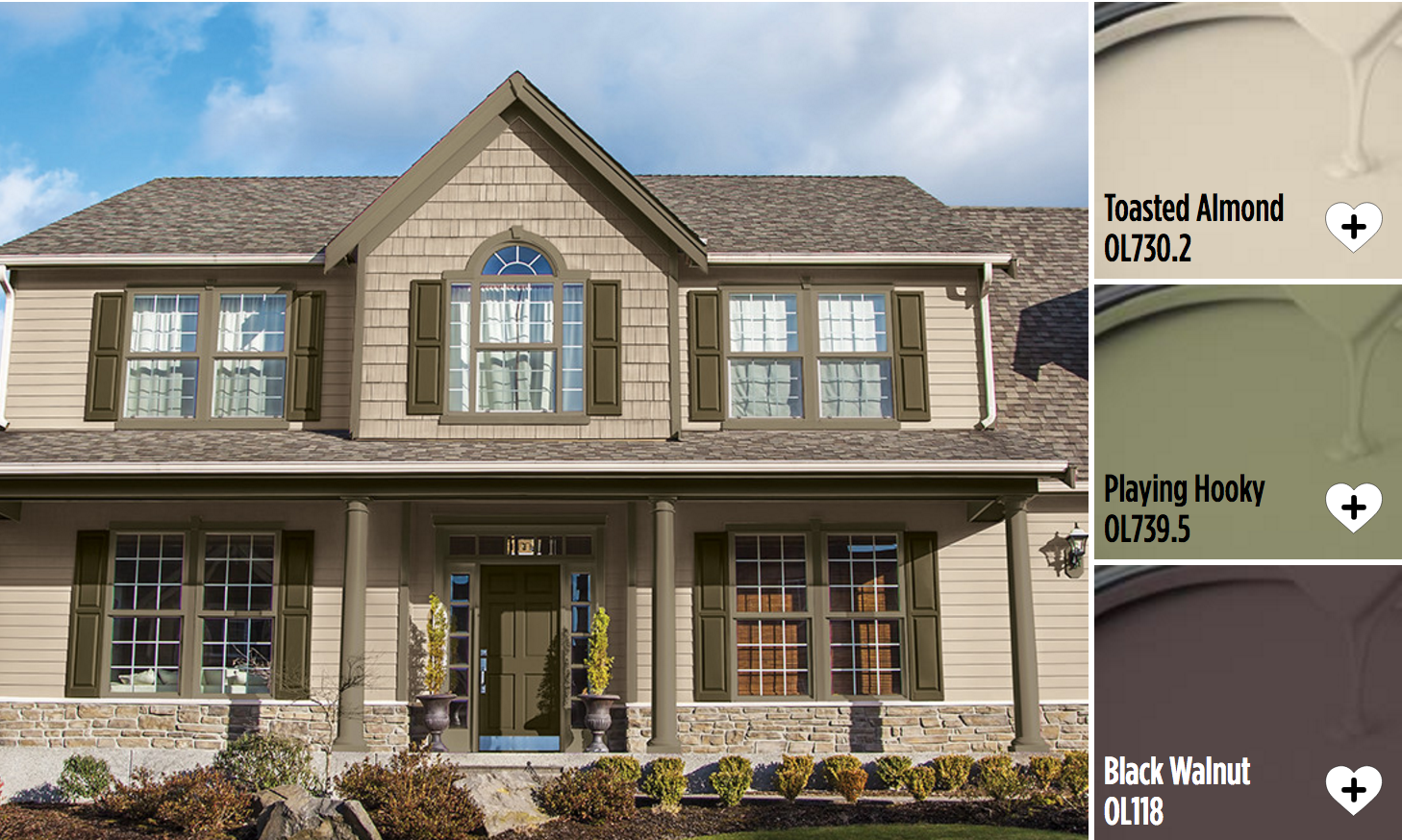 Exterior house paint colors from Olympic® Paints. Stand out from ...