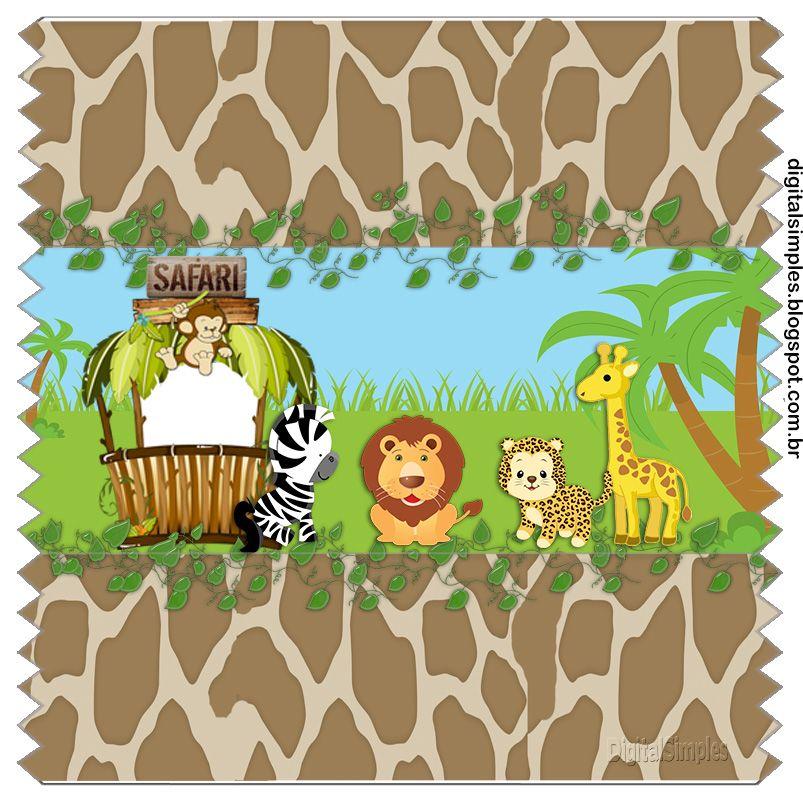 Kit Digital De Aniversario Tema Safari Menino Para Imprimir