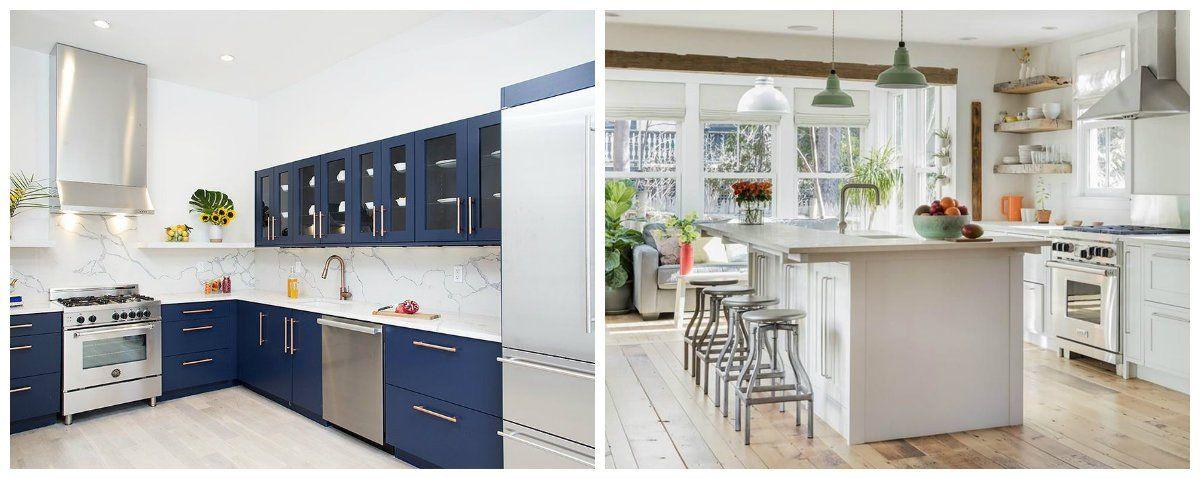 Kitchen designs 2018: stylish ideas and shades in kitchen ...