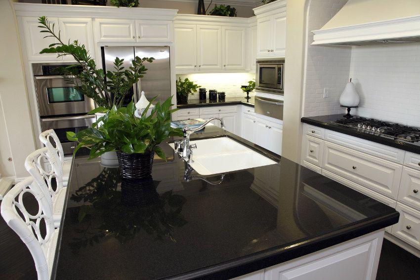 Quartz Kitchen Countertops Pros And Cons Black Quartz Quartz Counter And Counter Top