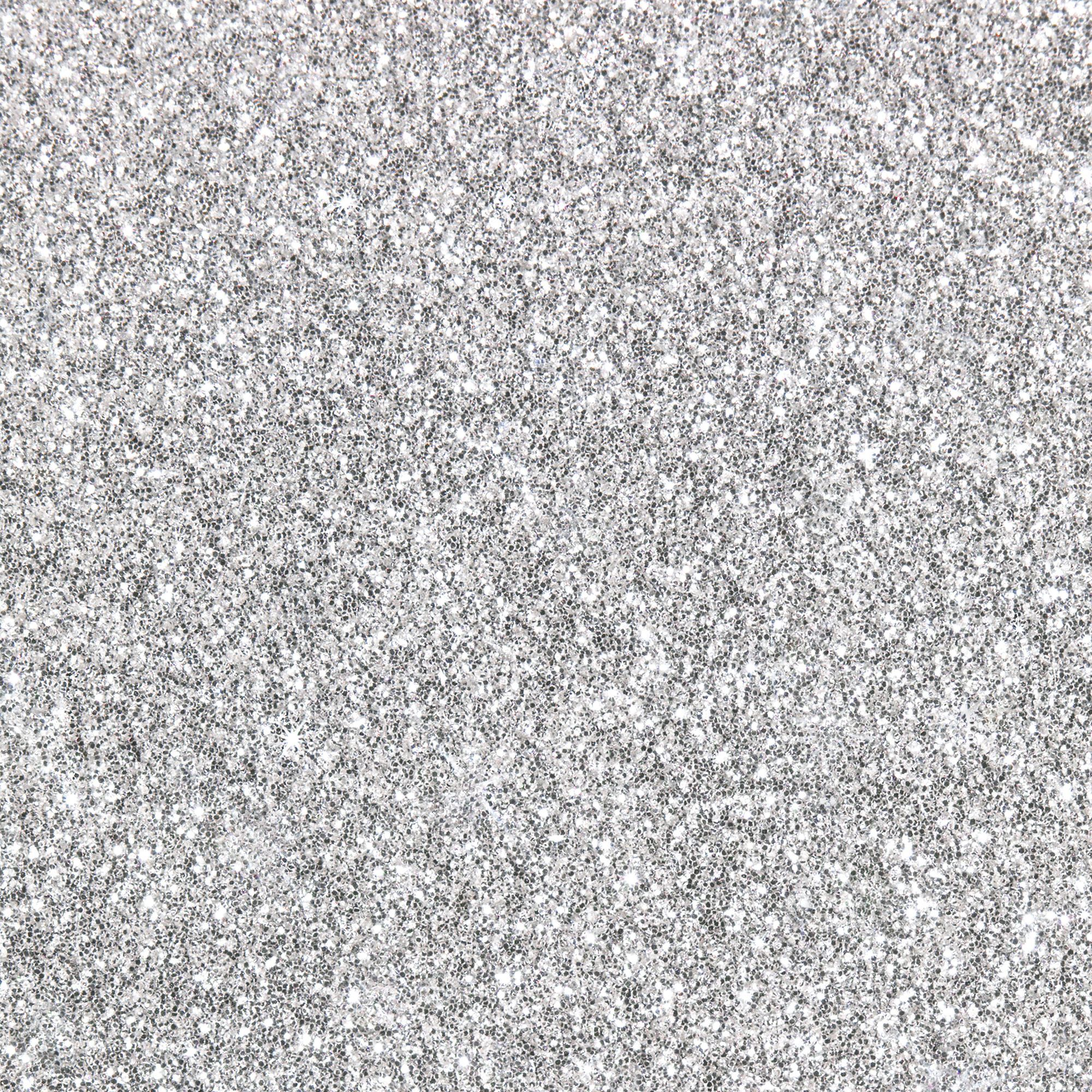 Sparkle Silver Texture Metallic Glitter Wallpaper