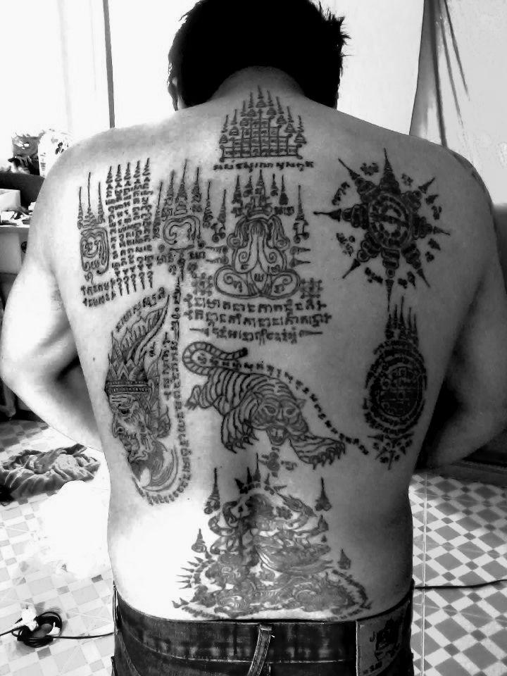 sak yant thai religious tattoos tattoo pinterest religious tattoos tattoo and sak yant. Black Bedroom Furniture Sets. Home Design Ideas