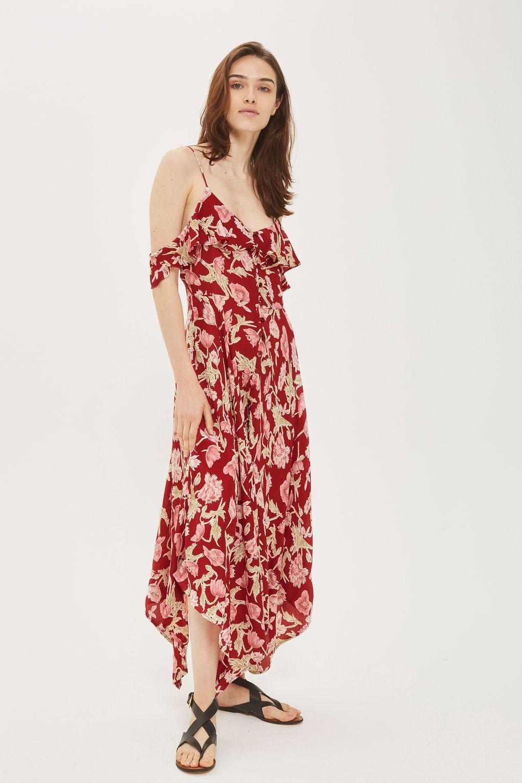 15db7f30f94 PETITE Asymmetric Floral Maxi Dress in 2019