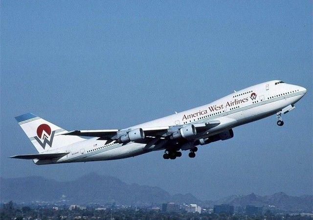 America West Boeing 747-230 (1989)