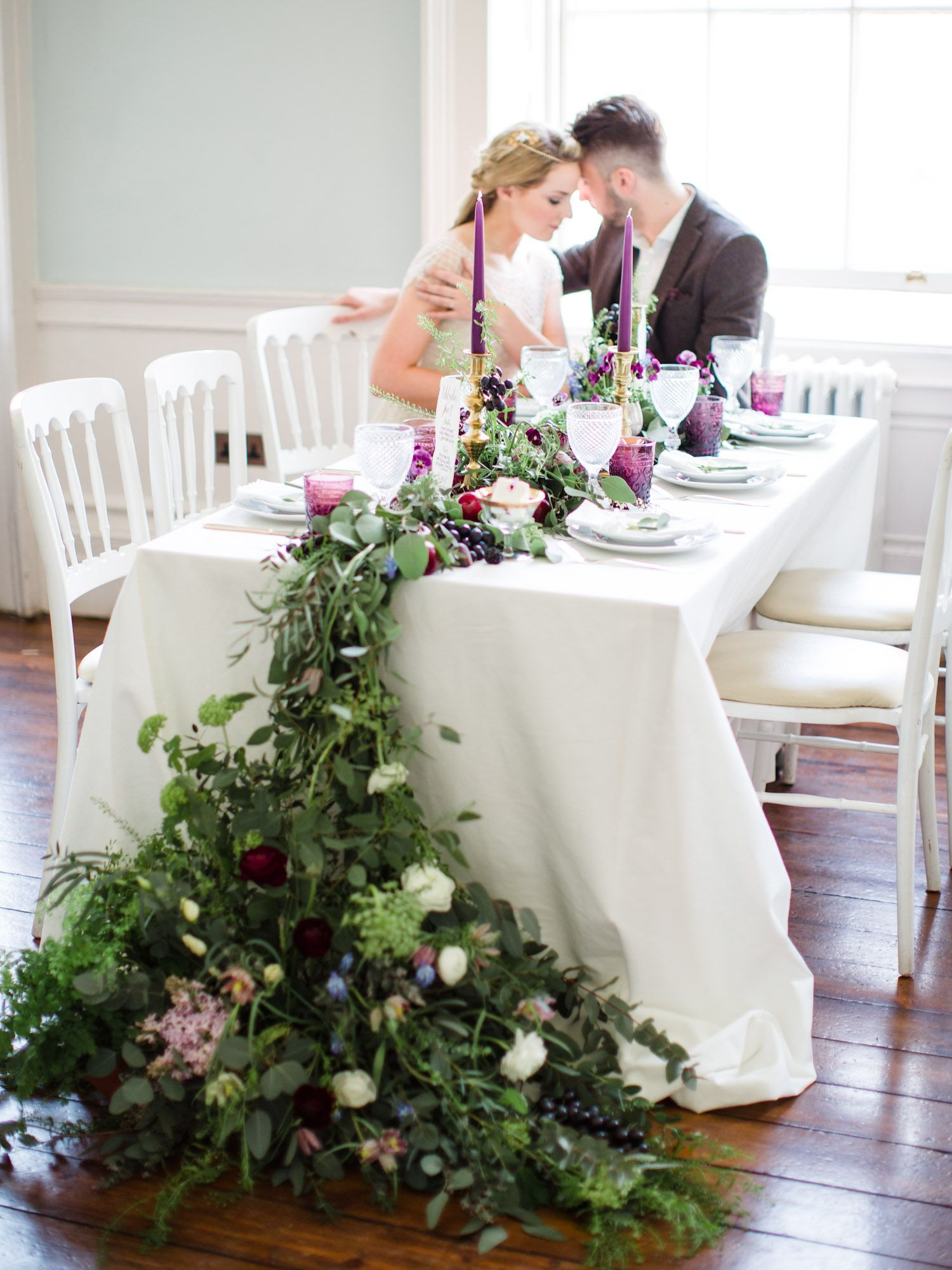 Wedding Table Floral Foliage Runner Photography: Wookie Photography ...