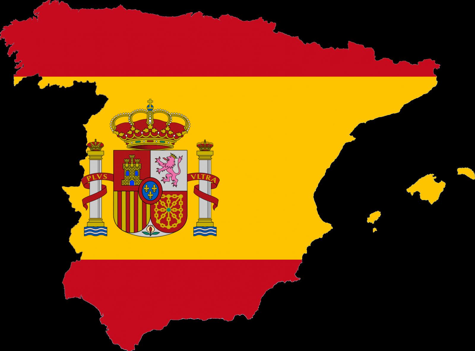 Dit Is Het Land Spanje Met De Spaanse Vlag En Het Logo Spanje Vlag Spaans