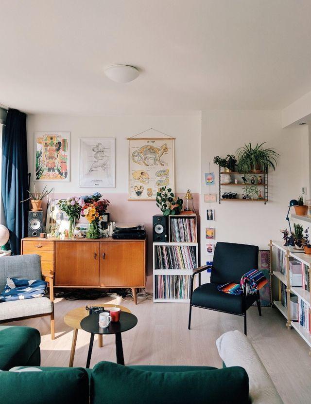 record storage  a mix of midcentury modern bohemian