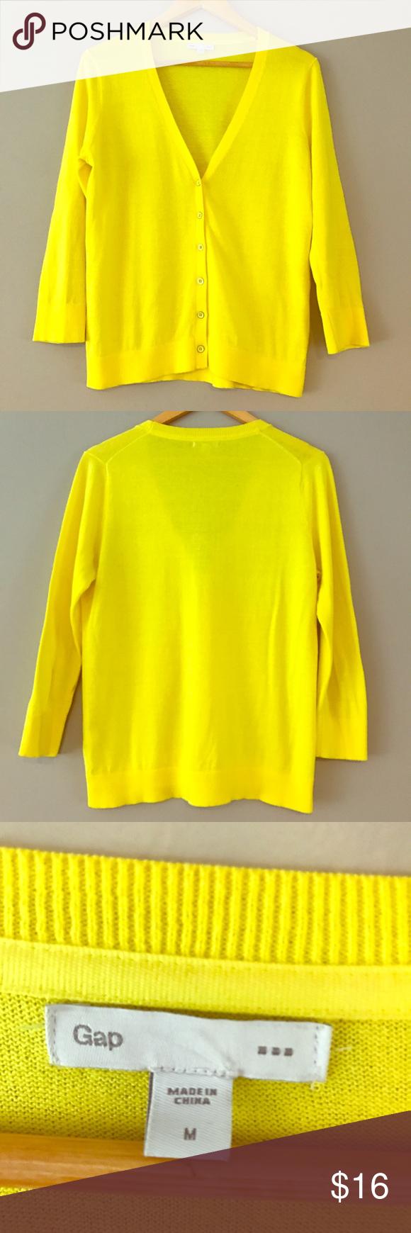 Gap cardigan | Sweater cardigan, Yellow and Cardigans