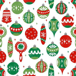 Christmas Fabric 2021 Release Colorful Fabrics Digitally Printed By Spoonflower Vintage Ornaments Fabric Andrea Lauren Fabric Vintage Fabric Vintage Christmas Fabric Ornaments Fabric In 2021 Christmas Fabric Christmas Ornament Pattern Christmas Prints