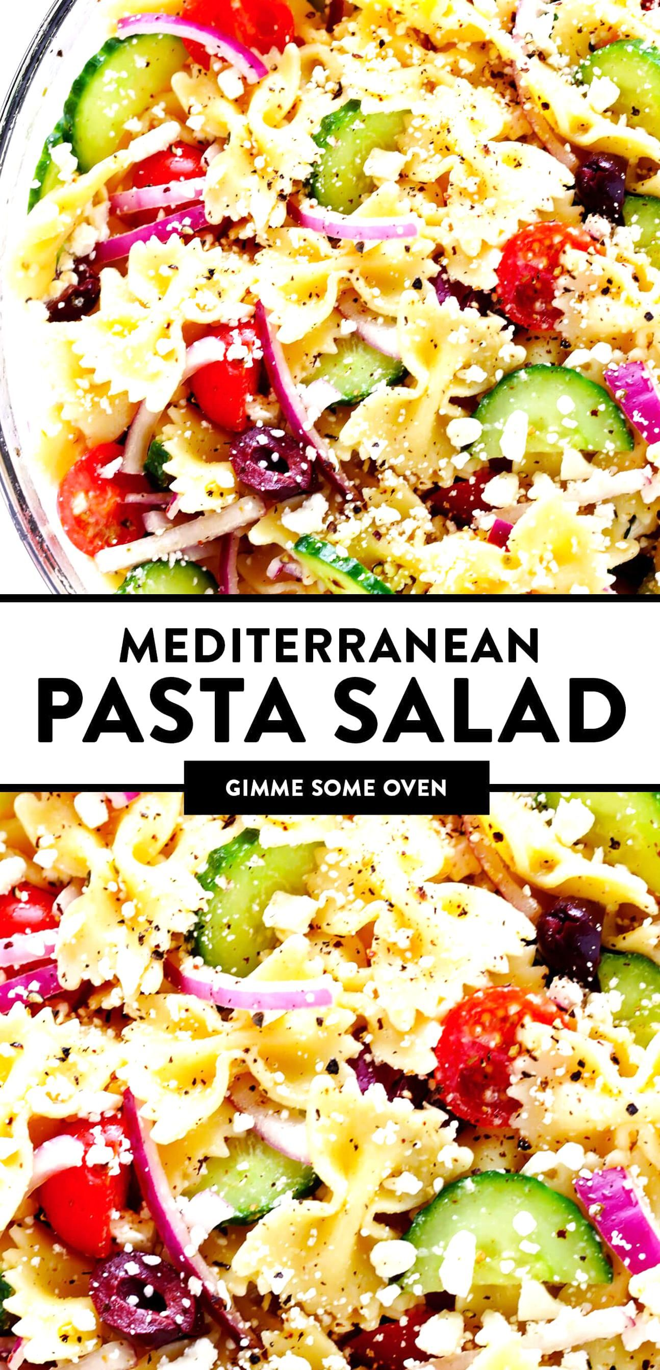 The Best Mediterranean Pasta Salad Made With Your Choice Of Pasta Cucumber Tomato Olives Onions Fet In 2020 Mediterranean Pasta Mediterranean Pasta Salads Pasta Salad