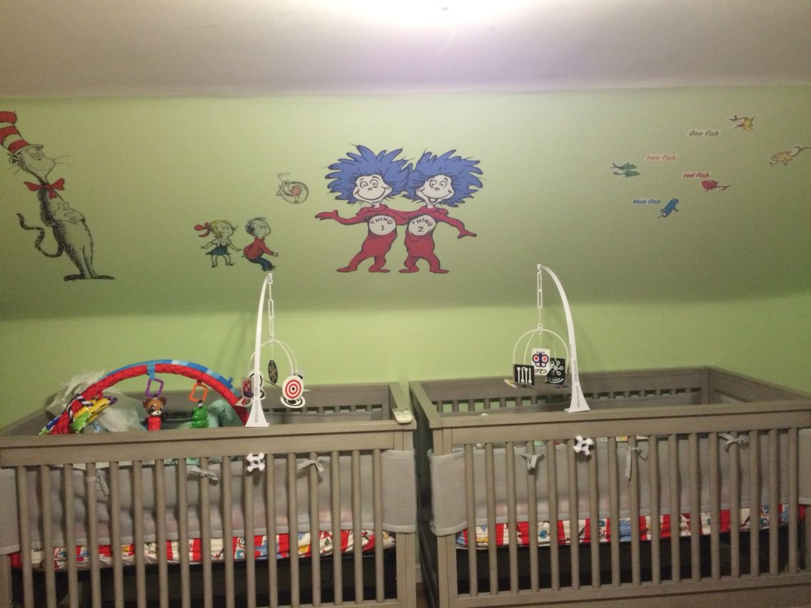 Thing 1 And Thing 2 Green Eggs And Ham Nursery Room The Lorax