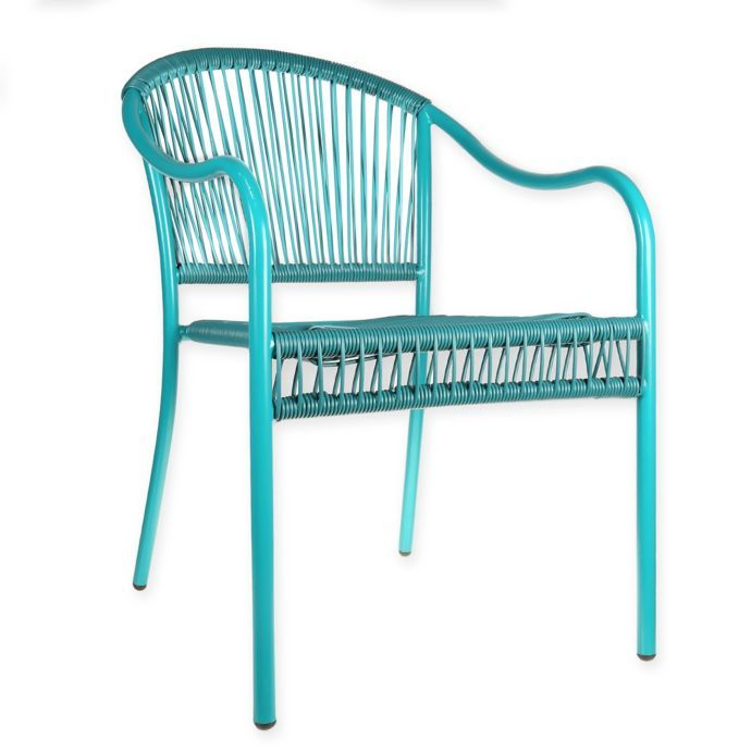 Stupendous Pop Color Stacking Wicker Chair In Teal Bed Bath Beyond Spiritservingveterans Wood Chair Design Ideas Spiritservingveteransorg