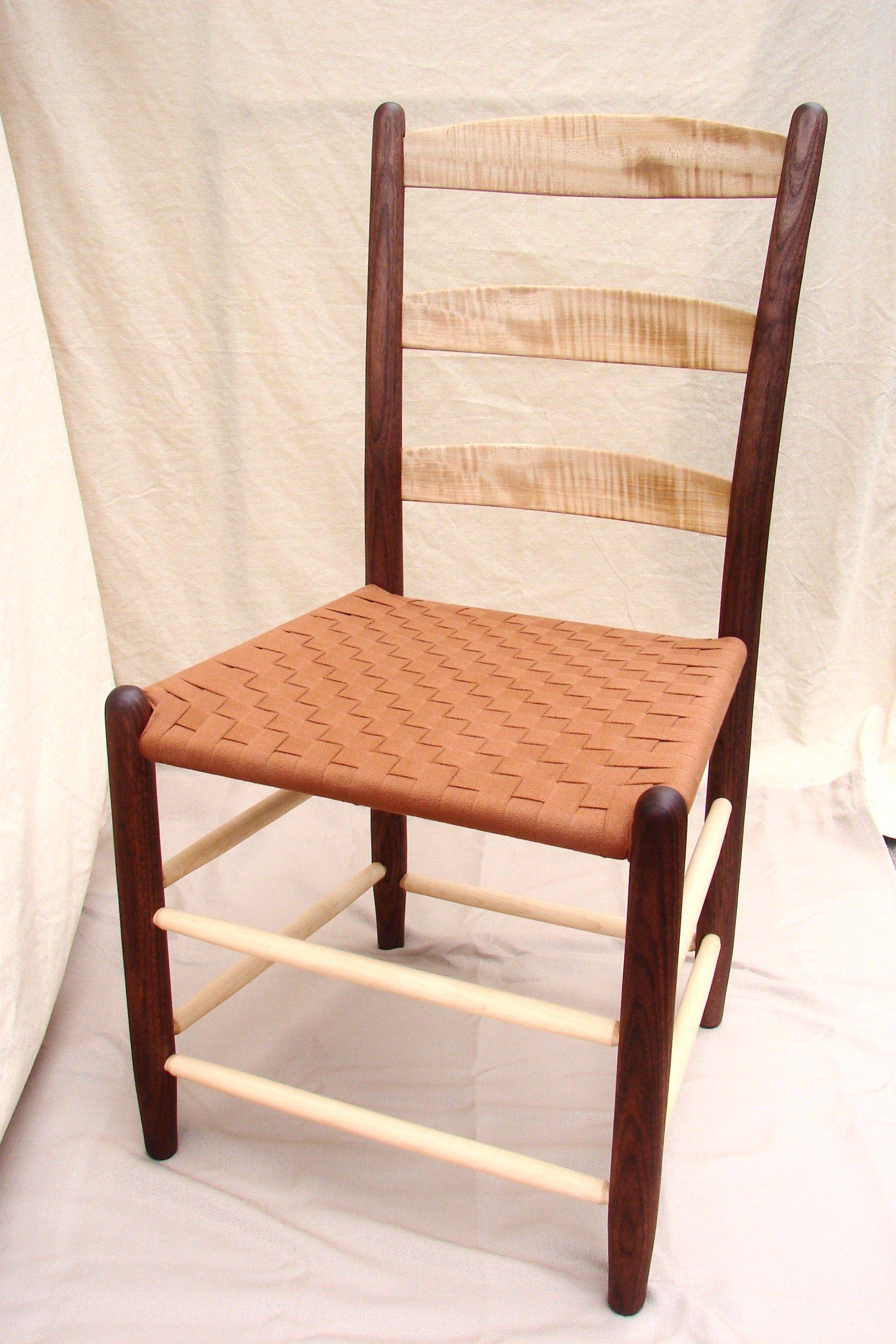 Our Three Slat Tappan Side Chair Featuring Regional Black Walnut