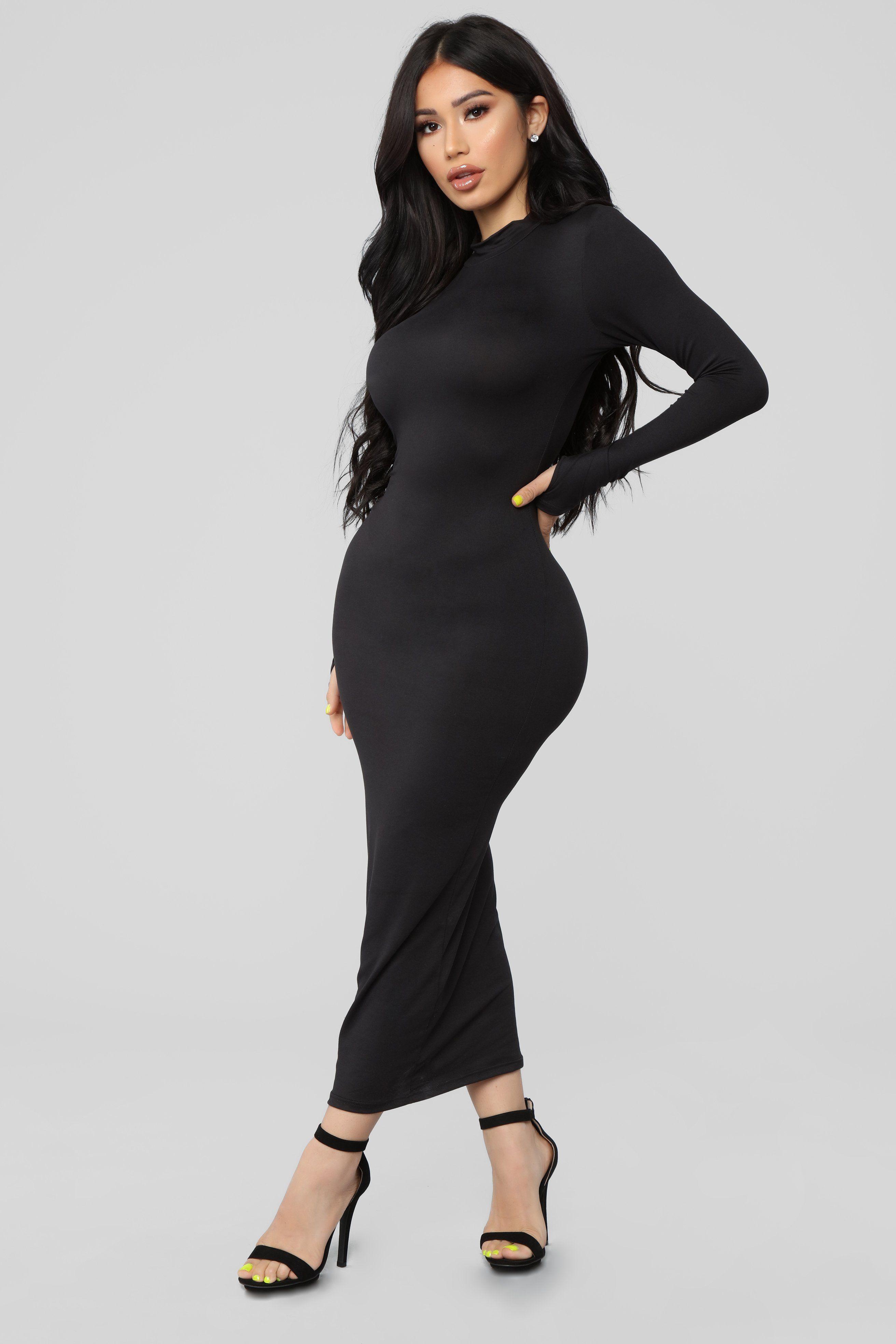 Full Coverage Maxi Dress Black in 2020 Maxi dress