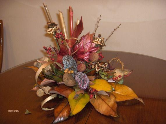 bonito y original centro flor seca, Arte, Collage centros de - flores secas