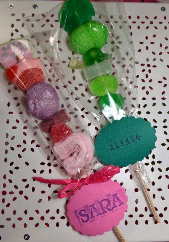 Brochetas dulces Ideas creativas para hacer en familia Pinterest