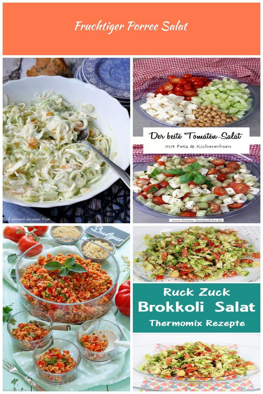 Fruchtiger Porree Salat | Essen | Rezept | Partyfood | kalte ...