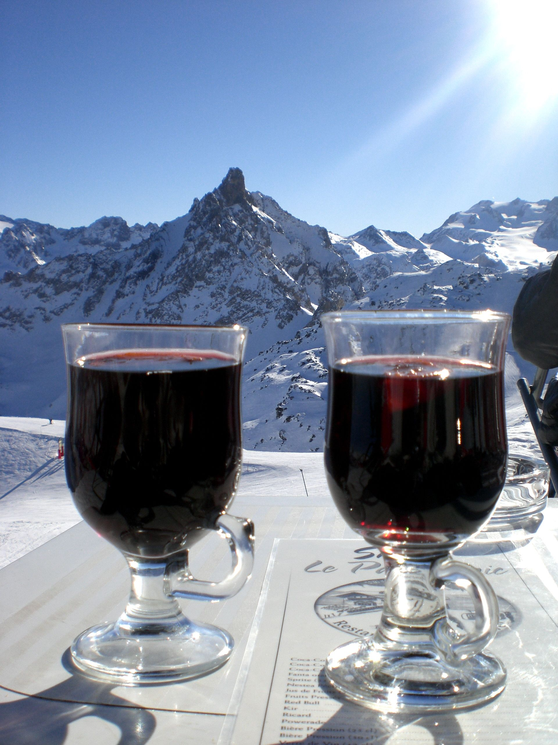 Mulled Wine At Courchevel France Apres Ski Ski Vin Chaud
