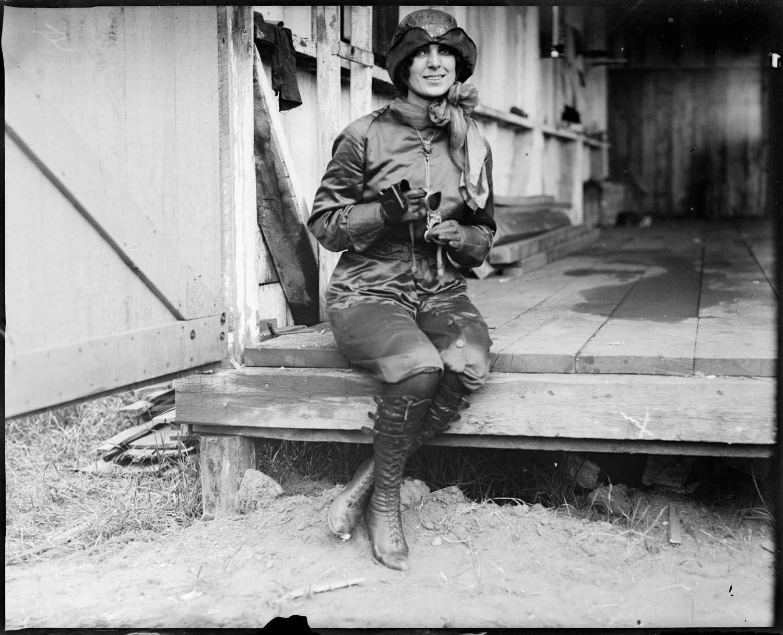 Miss Harriet Quimby, 1911, (Leslie Jones Collection, Boston Public Library)
