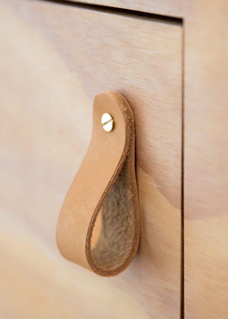 DIY: Leather Hooks + Pulls