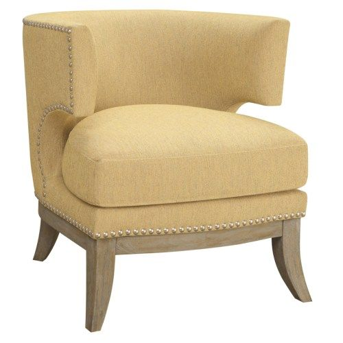 Coaster Accent Seating Barrel Back Upholstered Accent Chair   Coaster Fine  Furniture